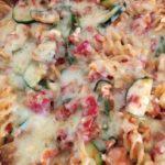 Tuna, courgette and tomato pasta bake
