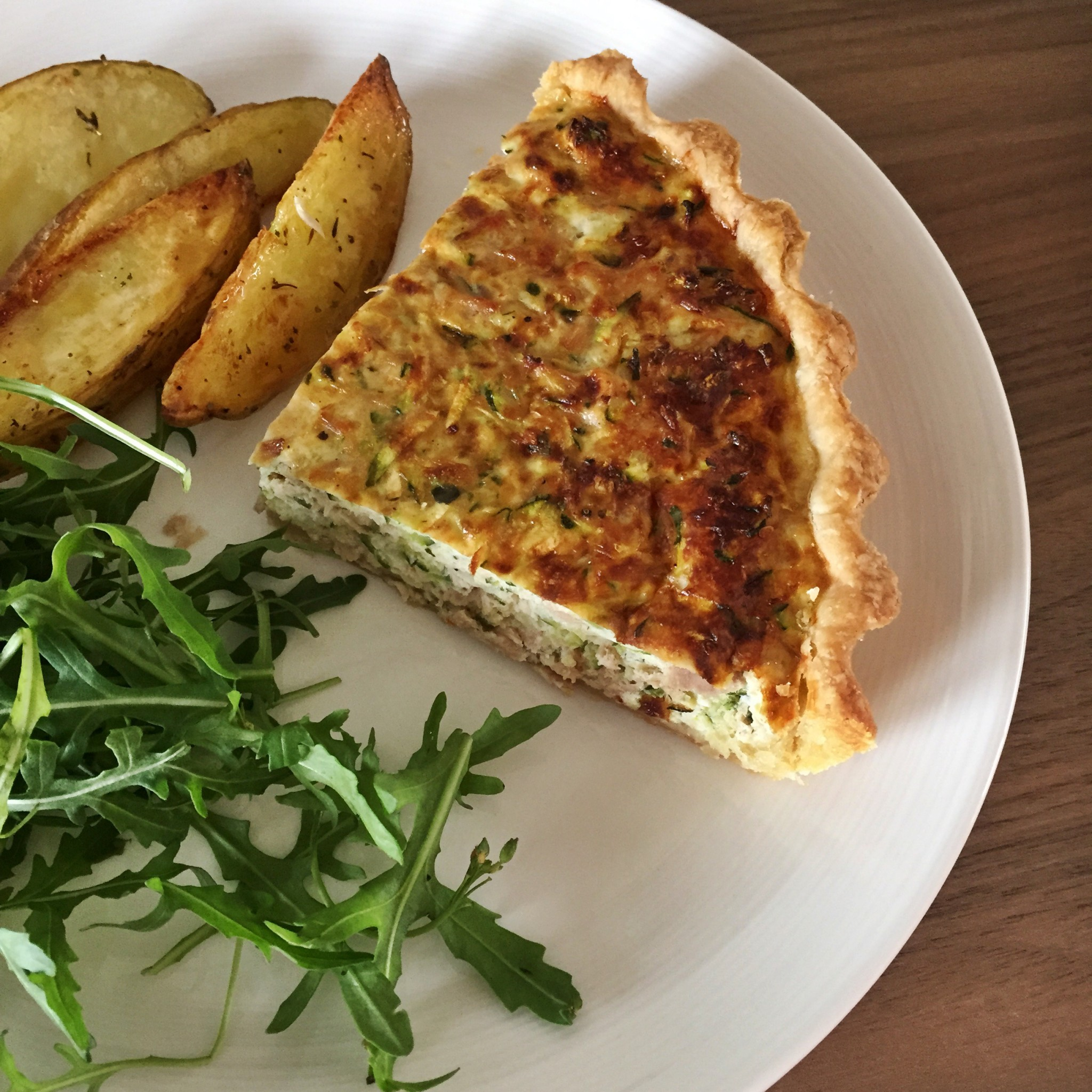 Tuna and courgette quiche is served | Hello! Hooray!