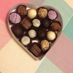 Chocolate box wedding favours