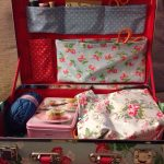 DIY travelling craft suitcase