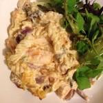 Creamy chicken, squash and sage pasta bake