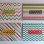 Scrapbook paper thank you cards