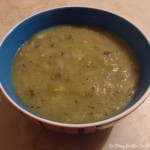 Potato and leek soup (with optional bacon!)