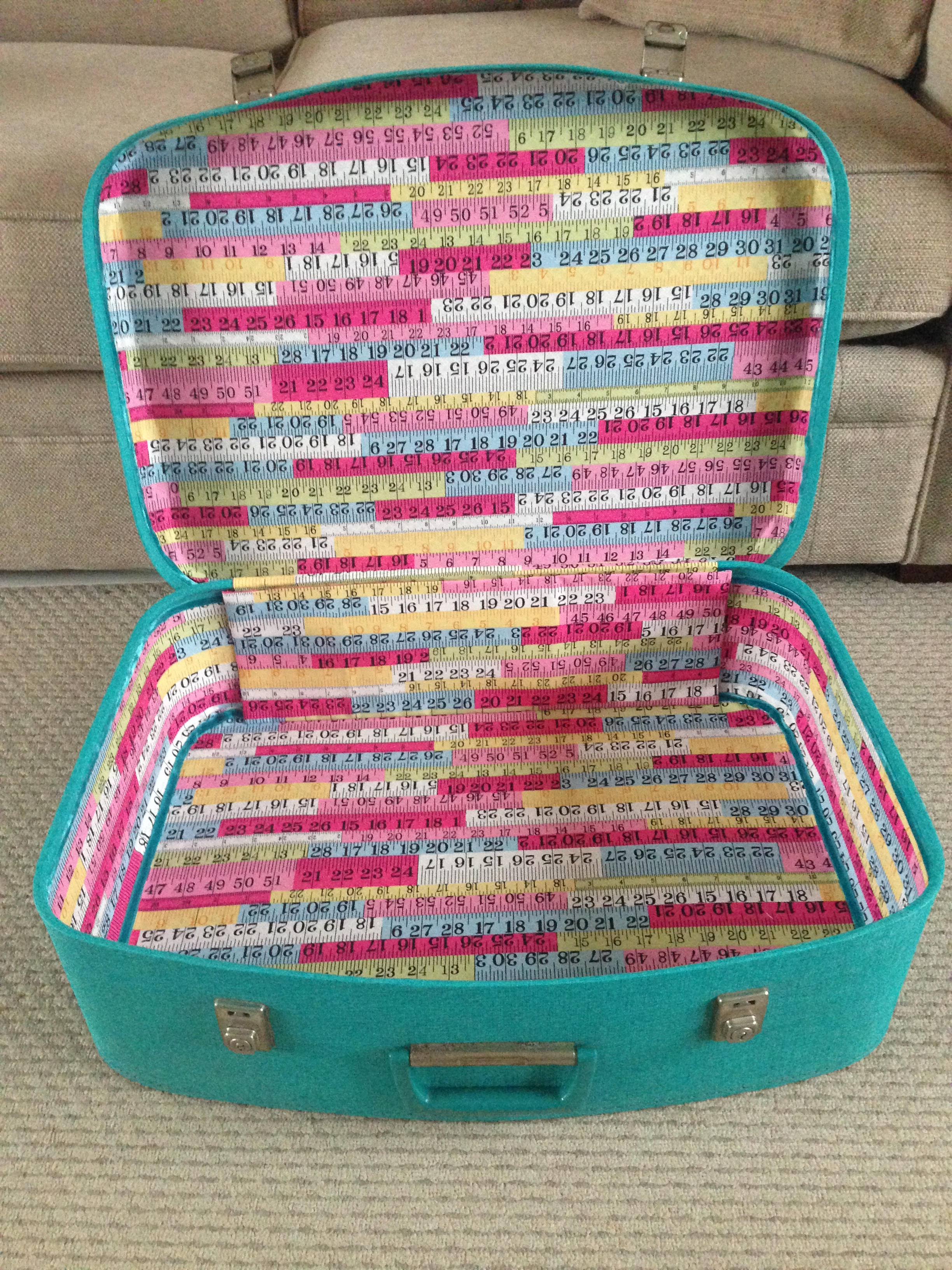 Tutorial: how to line a vintage suitcase - Hello! Hooray!