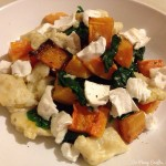 Gnocchi with roasted squash and goat's cheese
