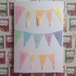 Stamped birthday bunting card