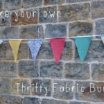 The School of Thrift: Thrifty fabric bunting tutorial
