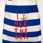 DIY printed nautical beach bag