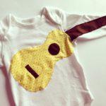 Ukulele baby bodysuit
