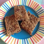 Ginger and dark chocolate flapjack