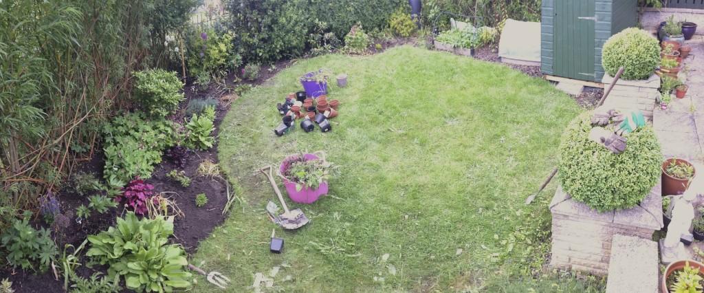 A garden panorama