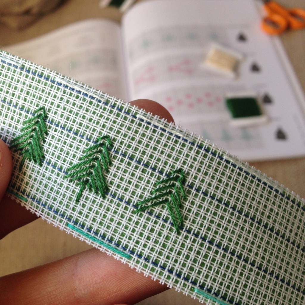 Stitching Christmas trees