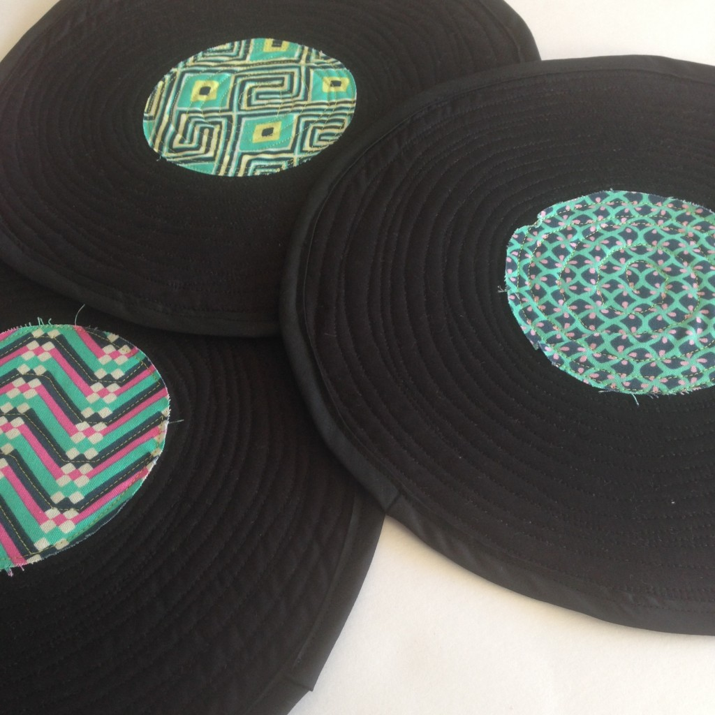 Quilted record placemats