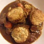 Steak and ale cobbler