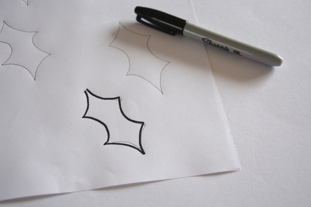 Drawing the leaf template