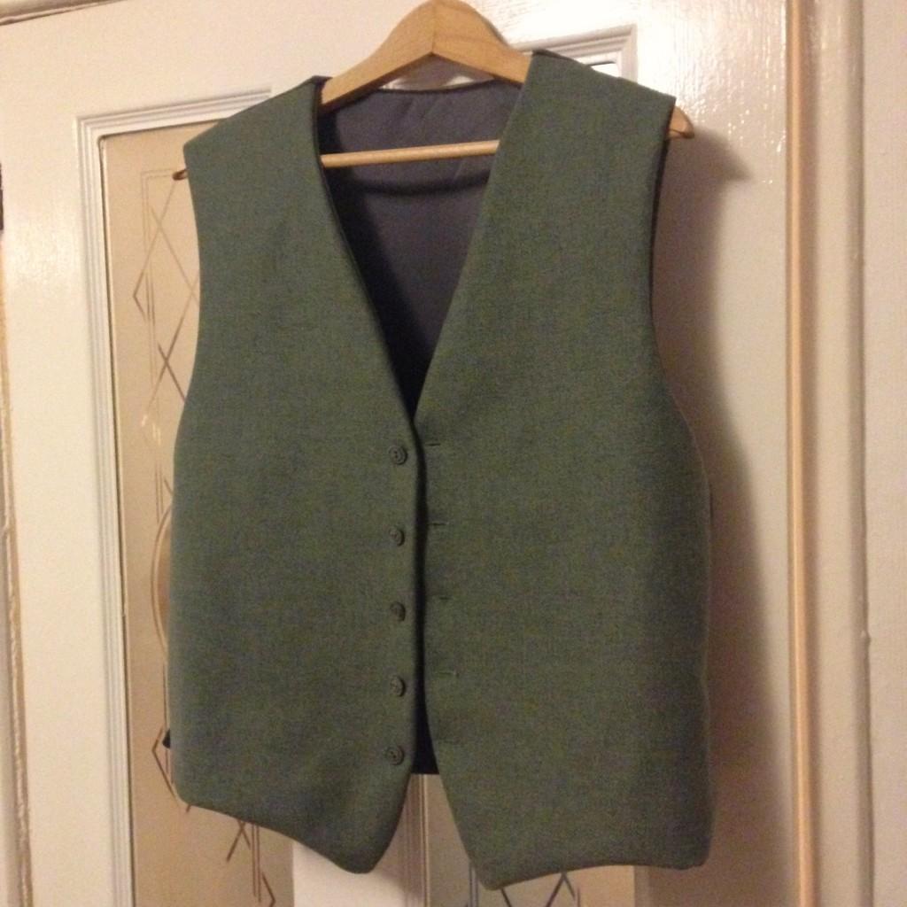 Finished tweed waistcoat