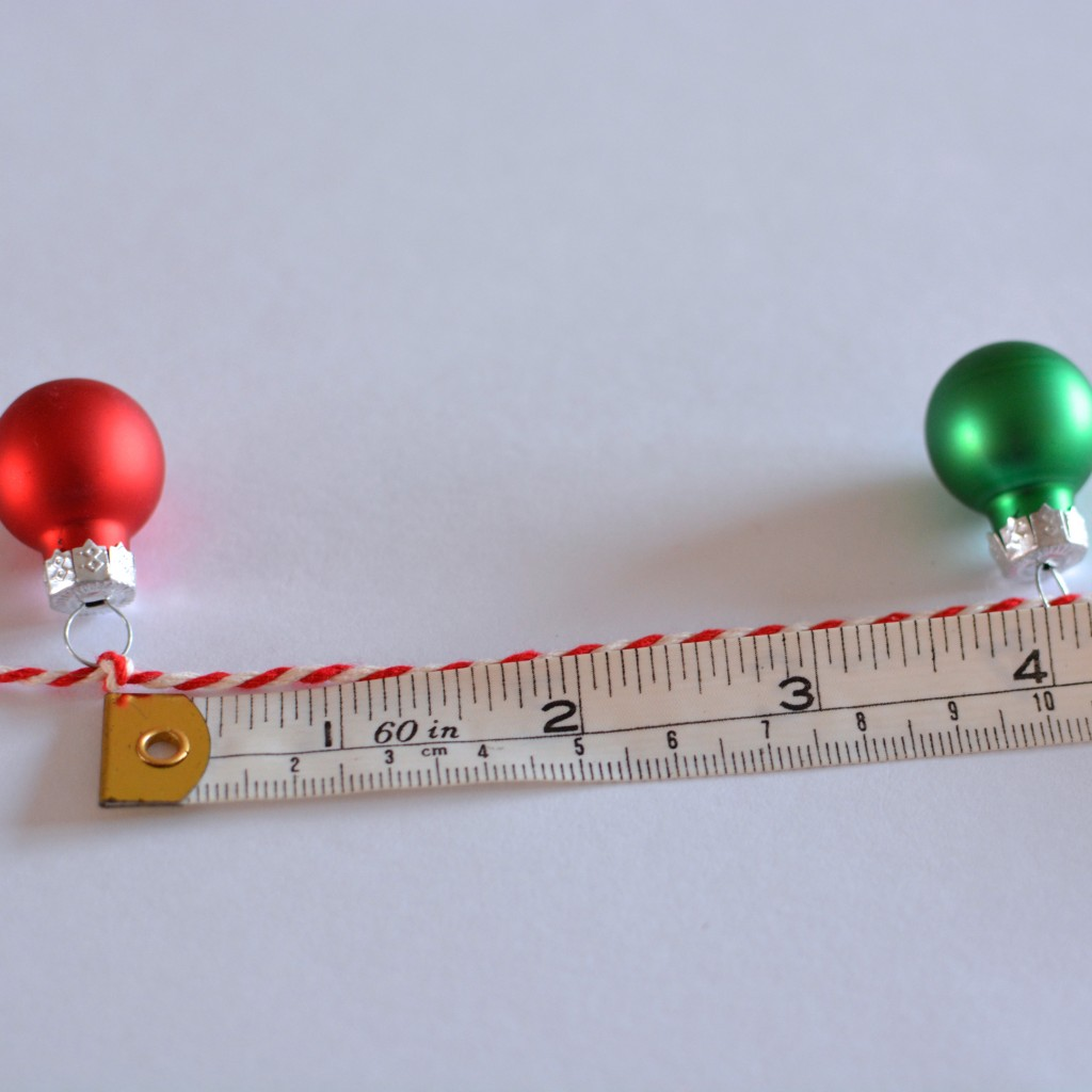 Measure and position the second bauble