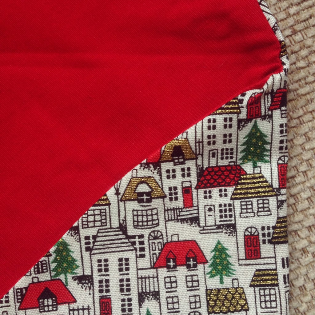 Christmas fabric envelope