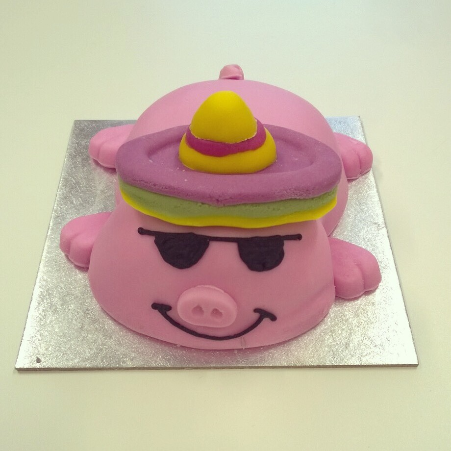 Percy Pig birthday cake