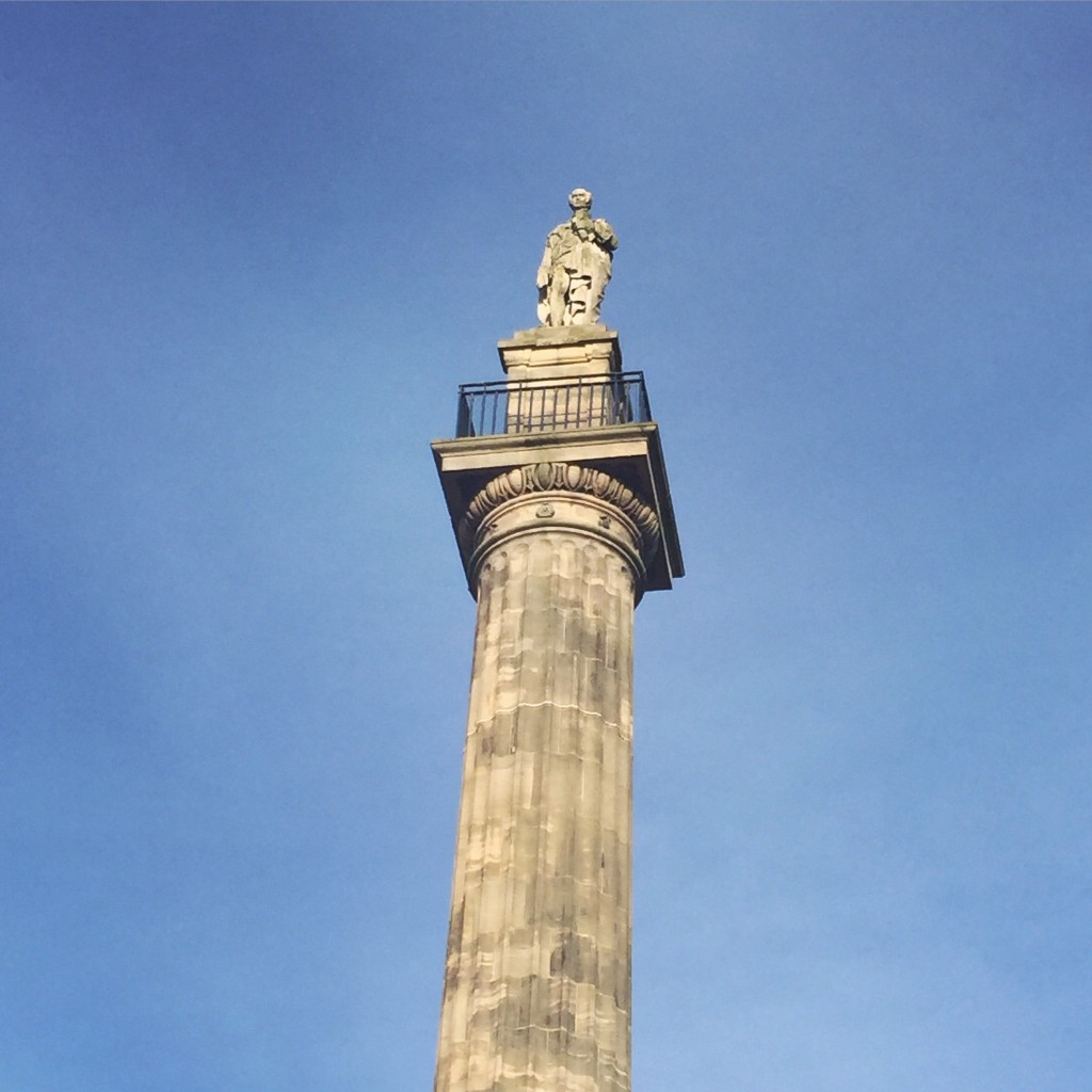 Grey's Monument on a sunny day