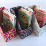Fabric covered magazine files