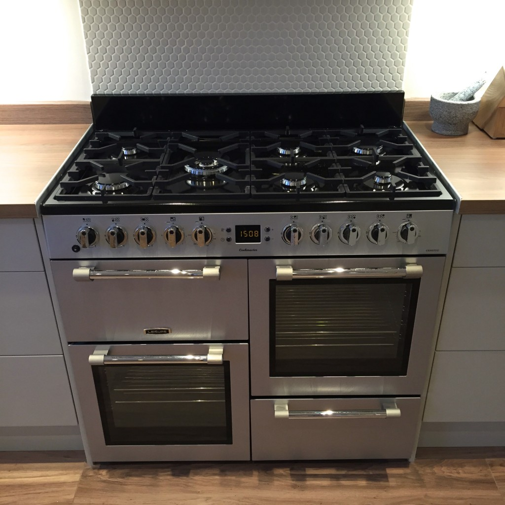Range cooker and blockbusters splash back