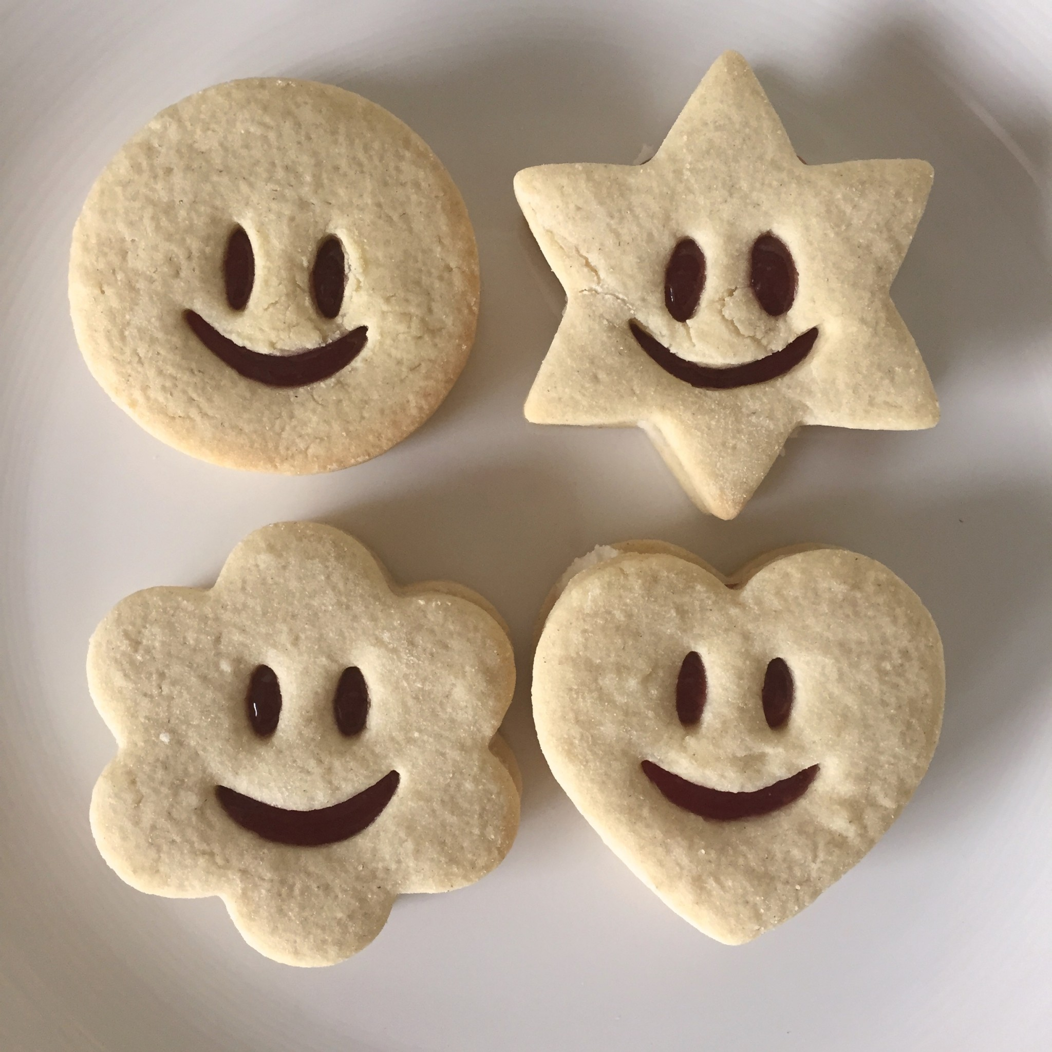 Smiley face biscuits!