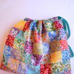 Liberty patchwork drawstring bag