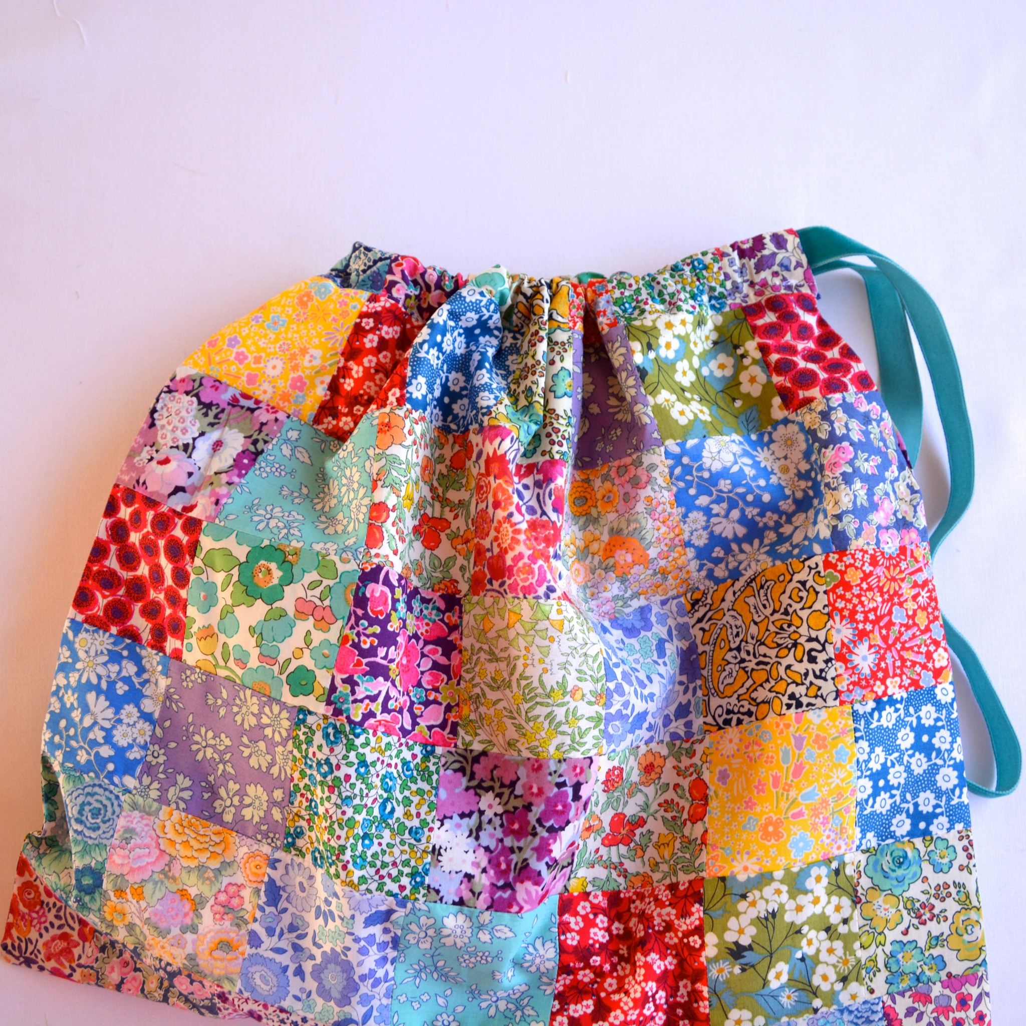 Liberty patchwork drawstring bag