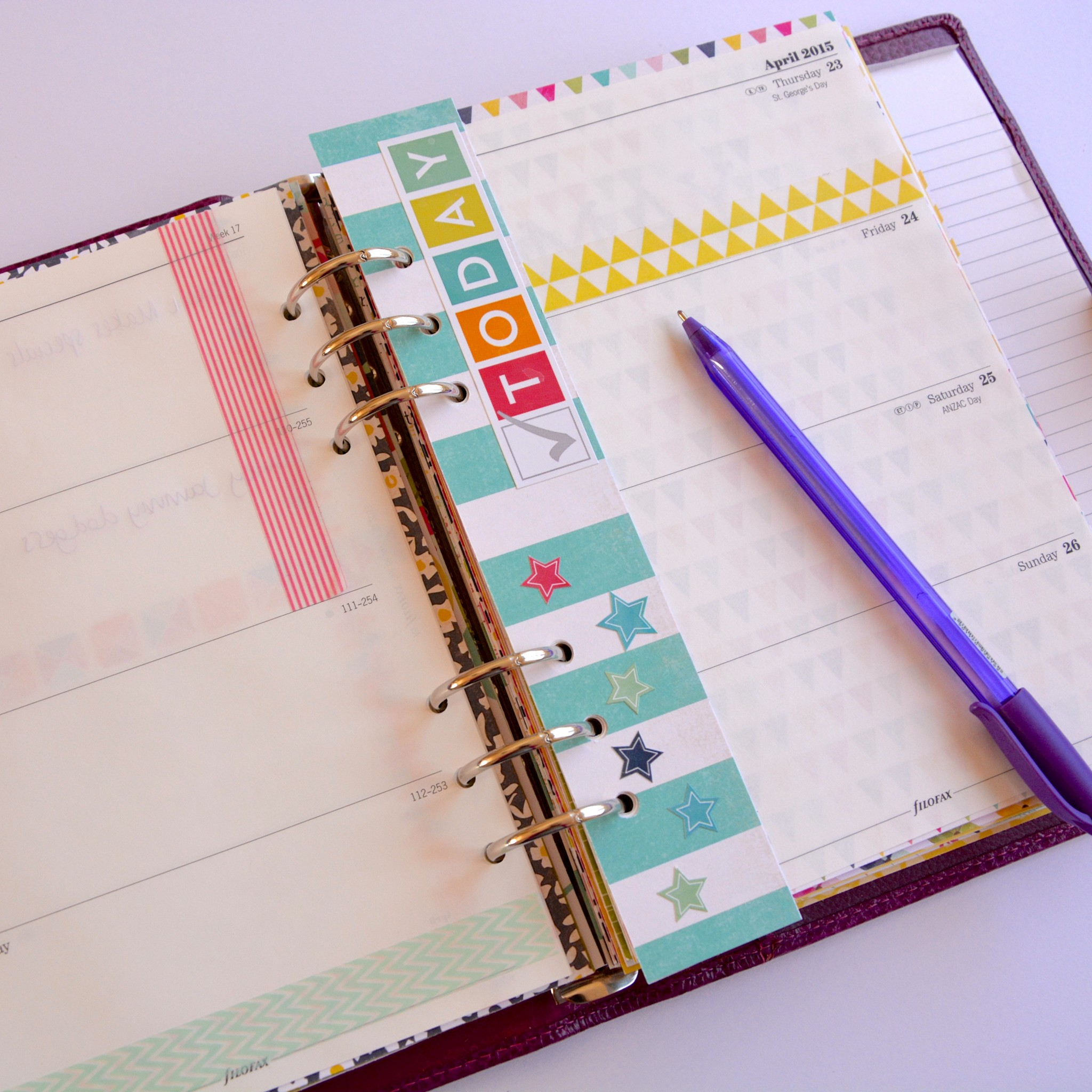Bookmark for Filofax