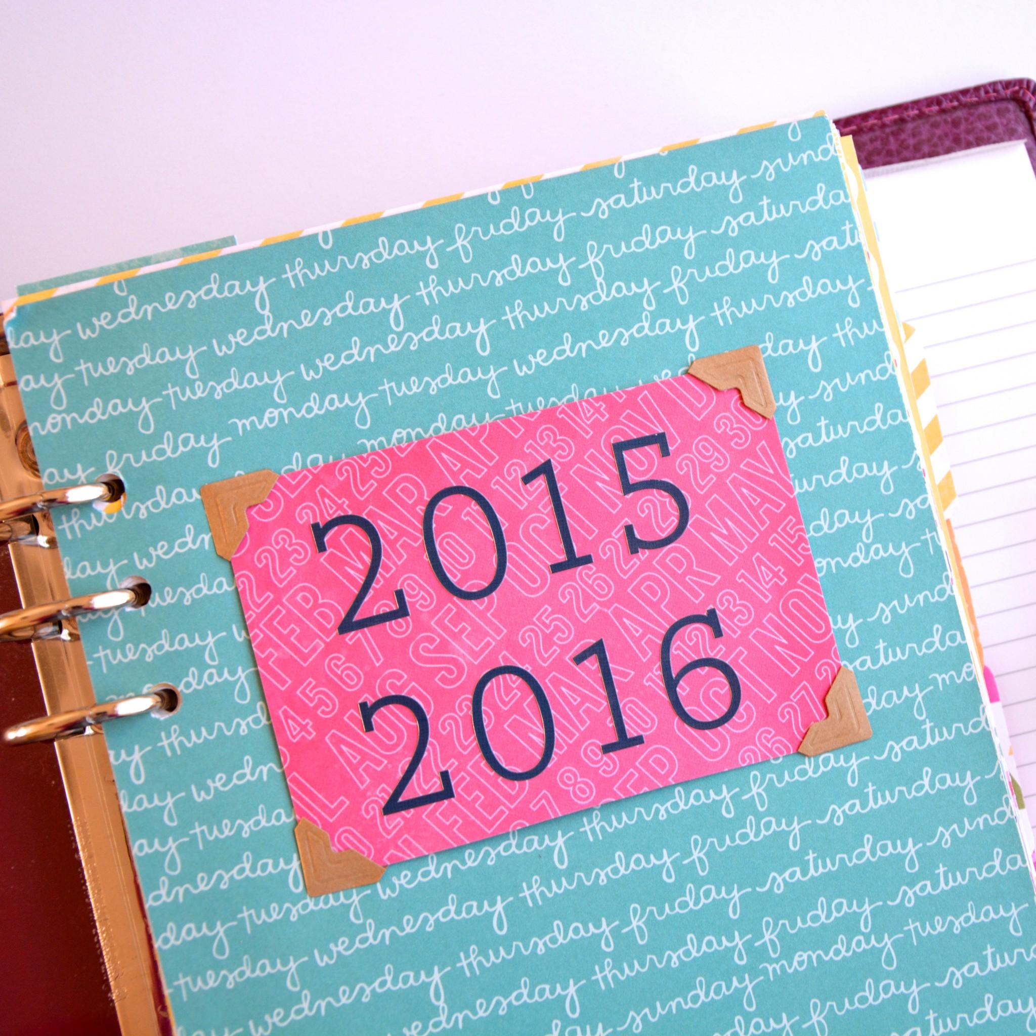 2015 Filofax page