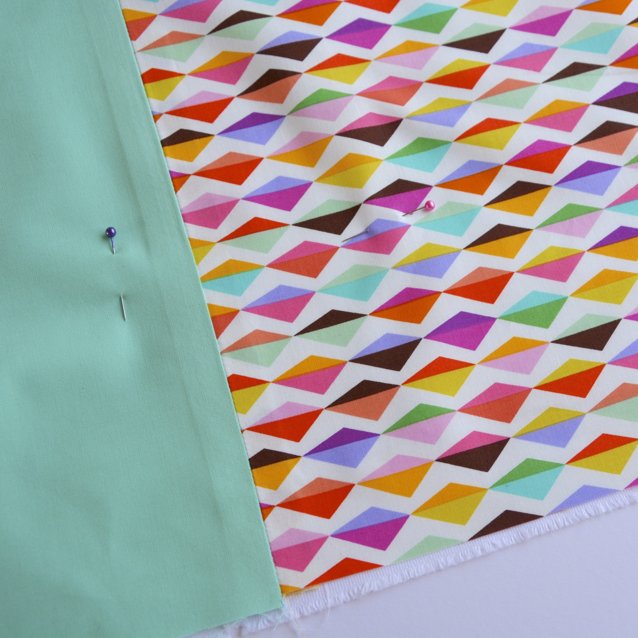 Pin before quilting