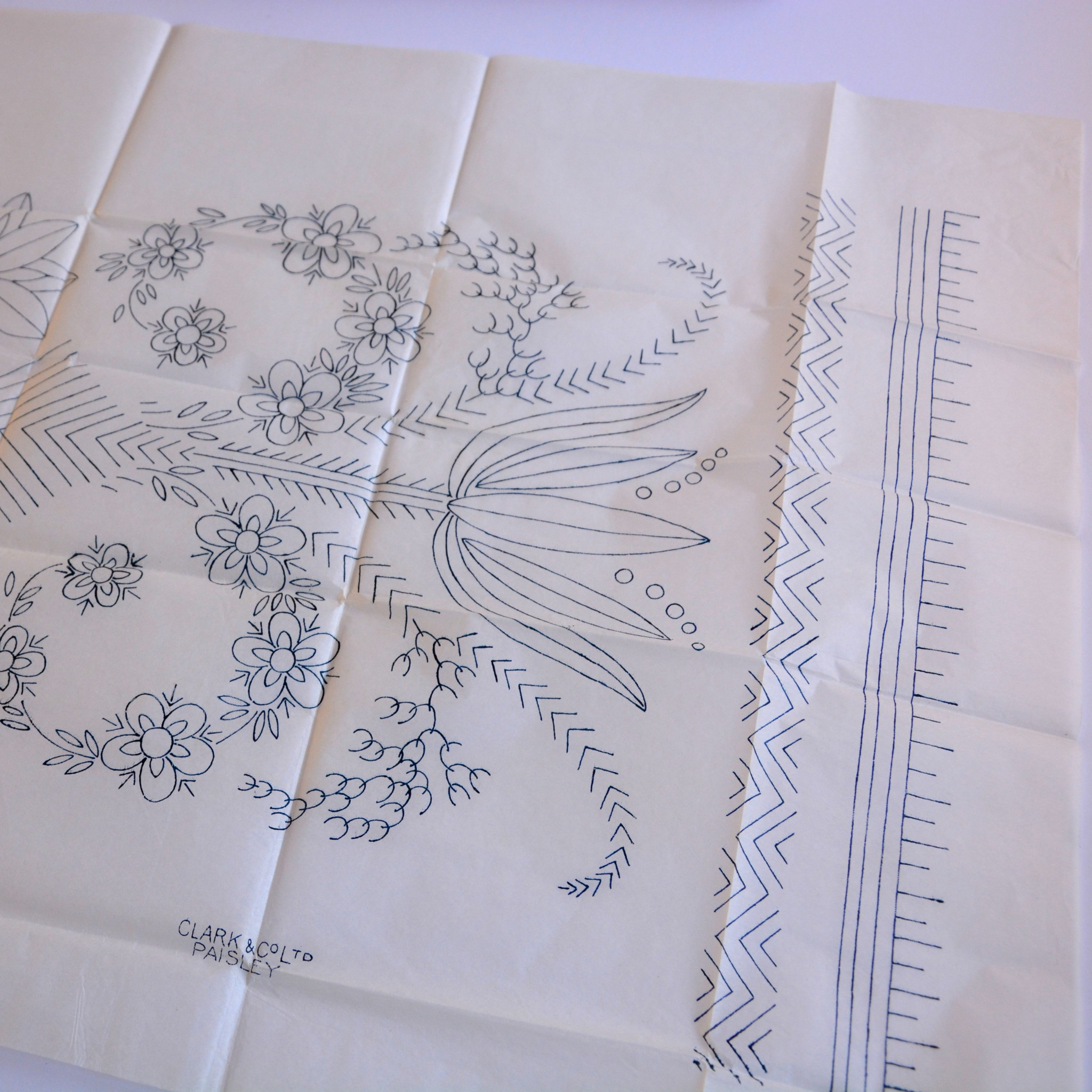 Table runner pattern detail