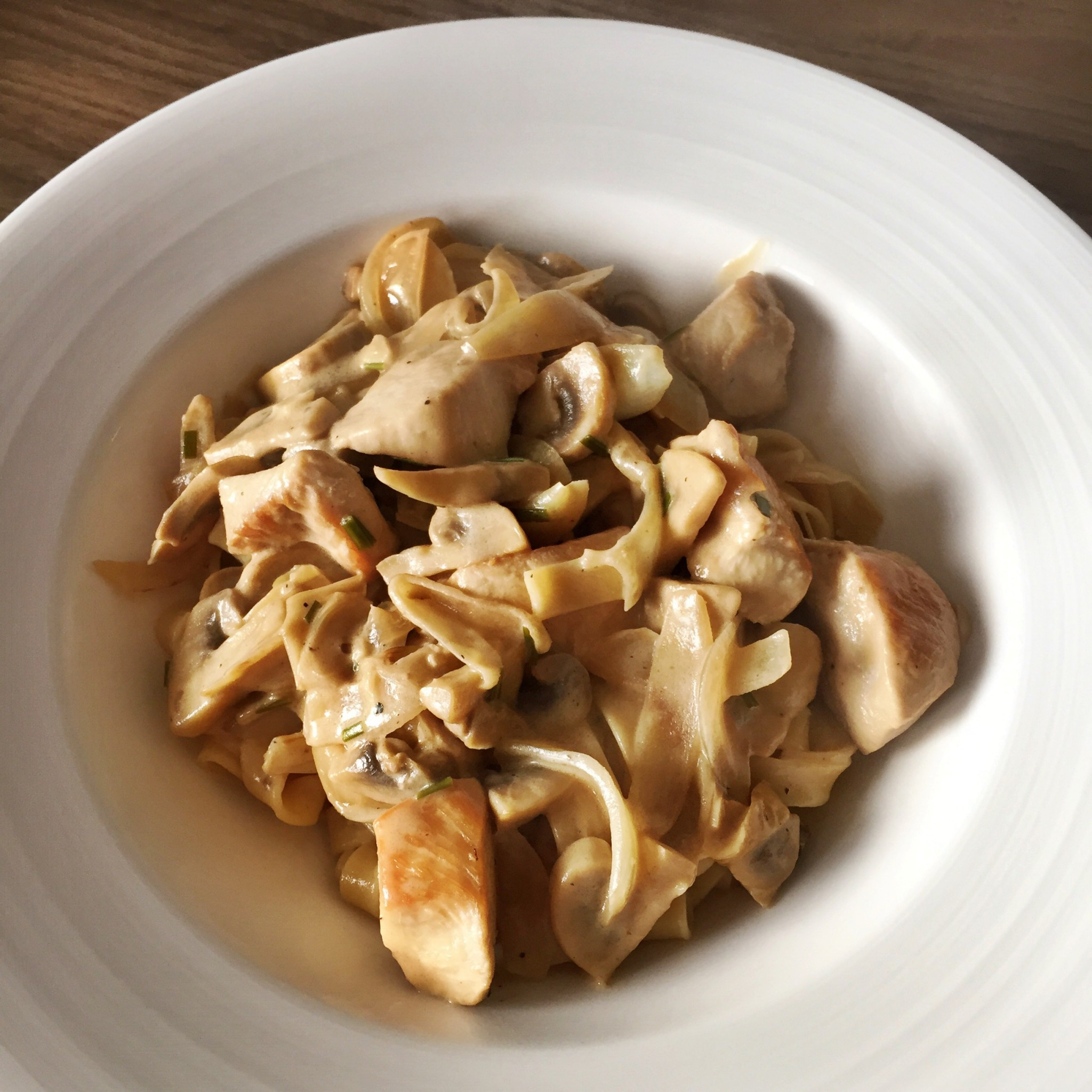 Chicken fettuccine with mascarpone and Marsala sauce | Hello! Hooray!