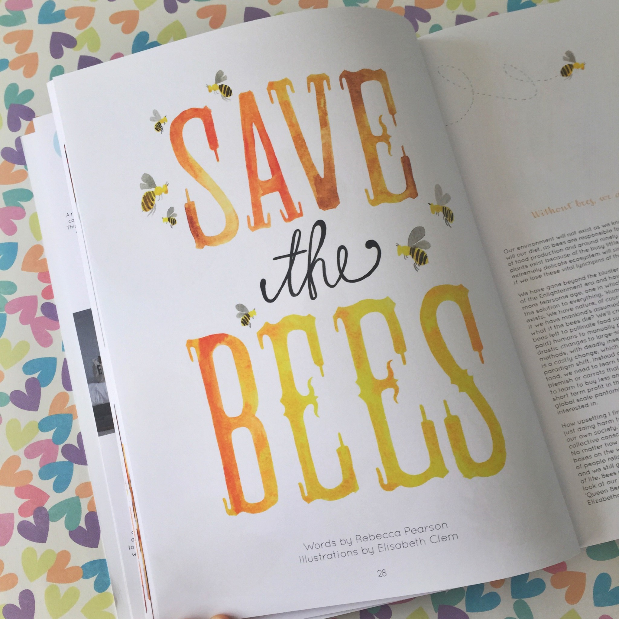 Caboodle Magazine save the bees feature