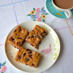 Martha's apple and cherry traybake