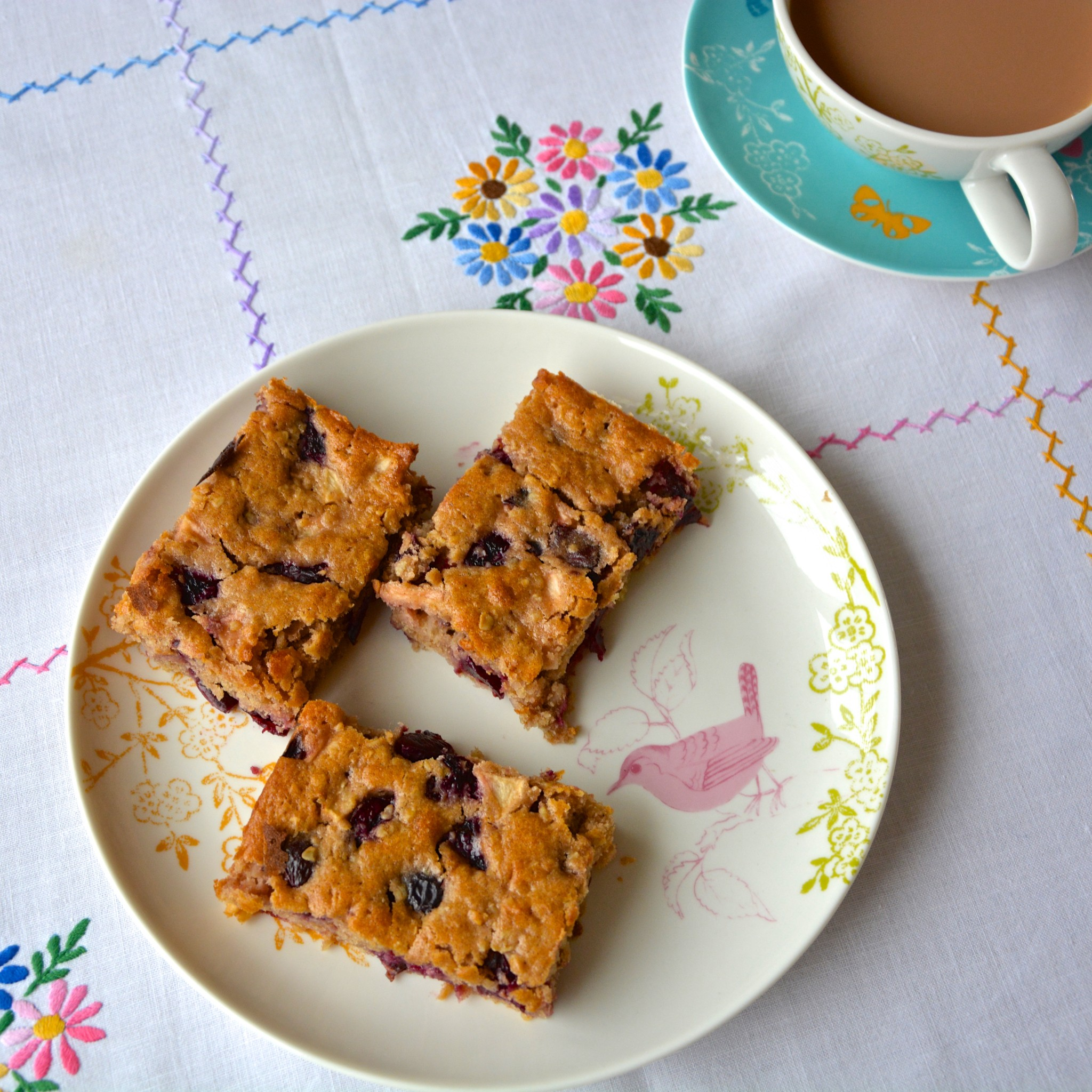 Martha's apple and cherry traybake | Hello! Hooray!