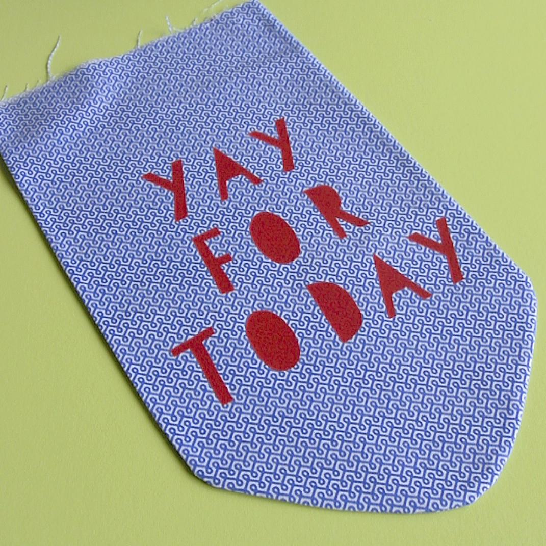 Fabric banner tutorial   Hello! Hooray!