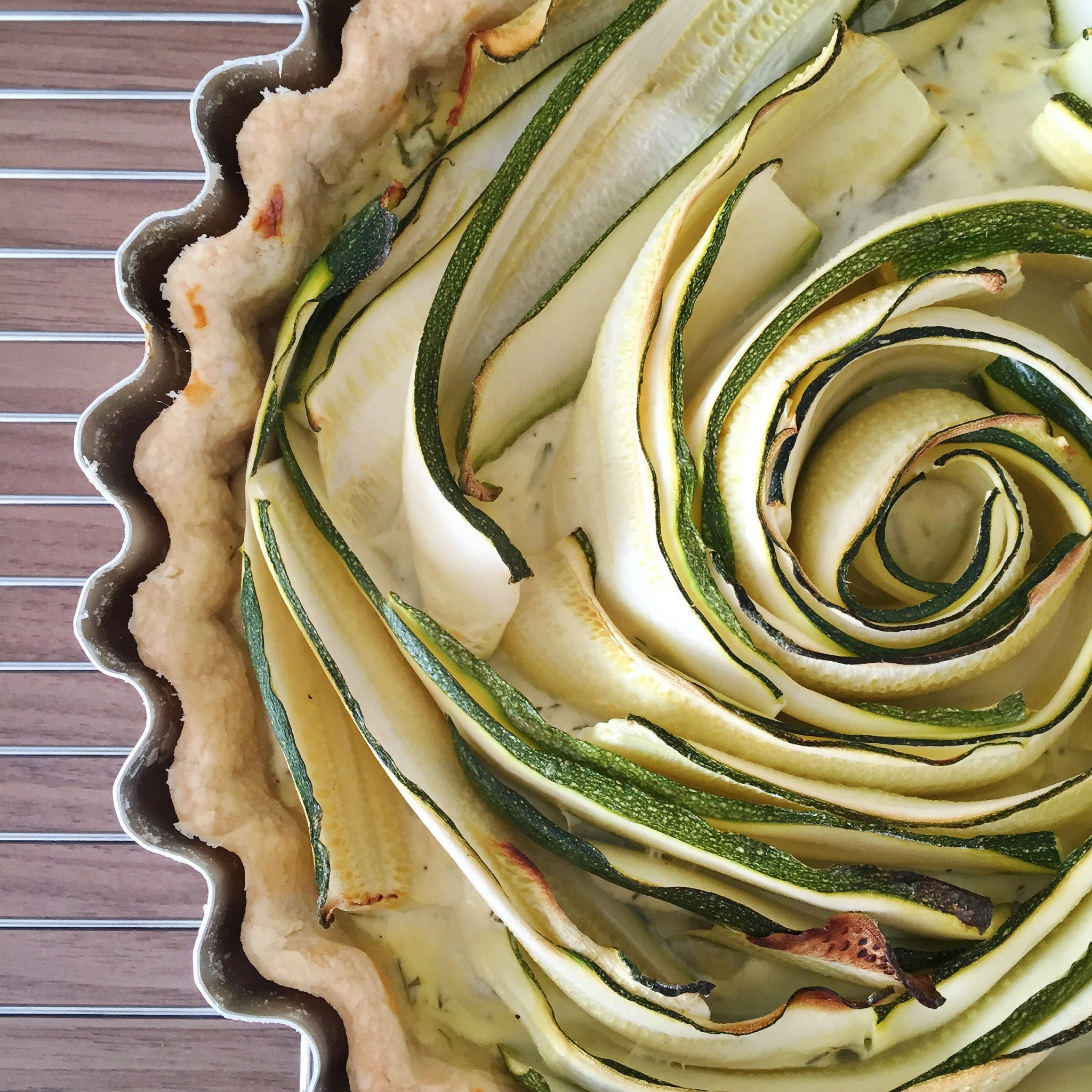Spiral courgette tart | Hello! Hooray!