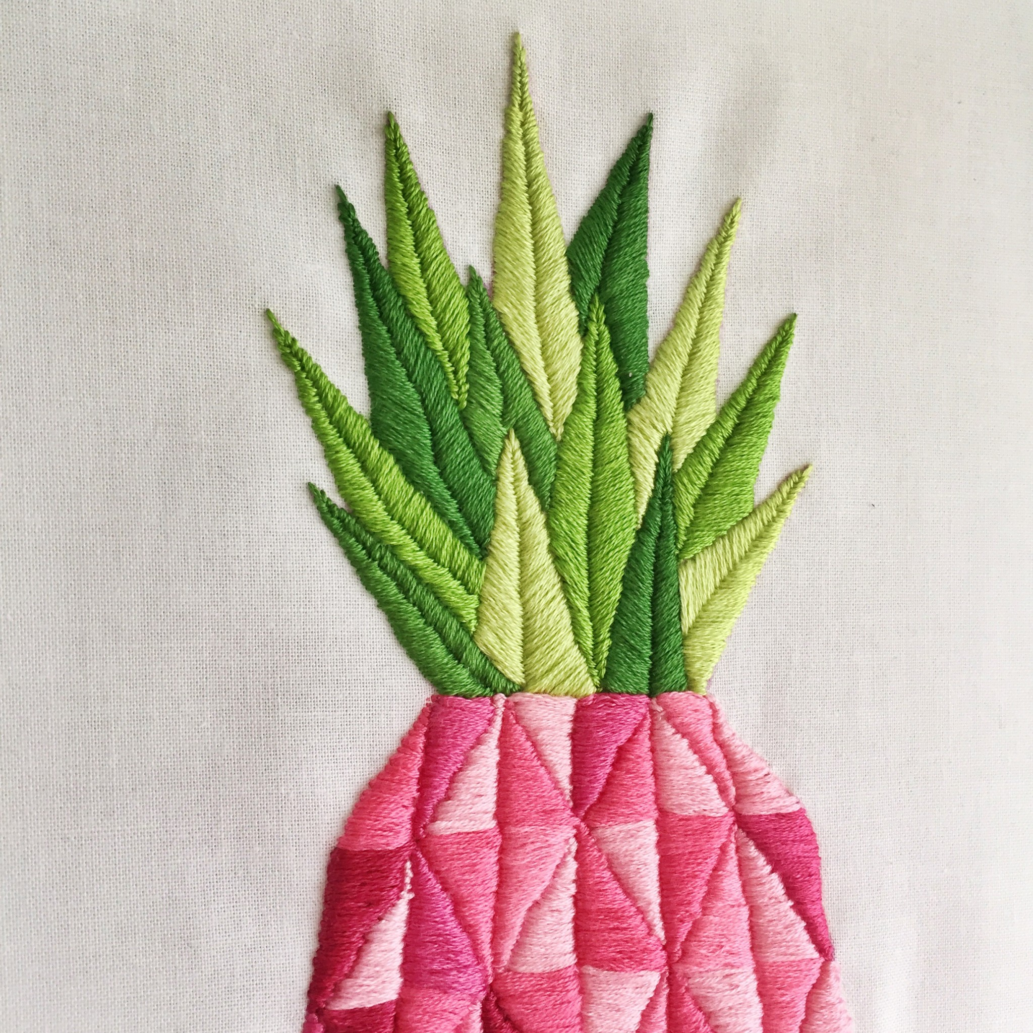 Pink pineapple embroidery | Hello! Hooray!
