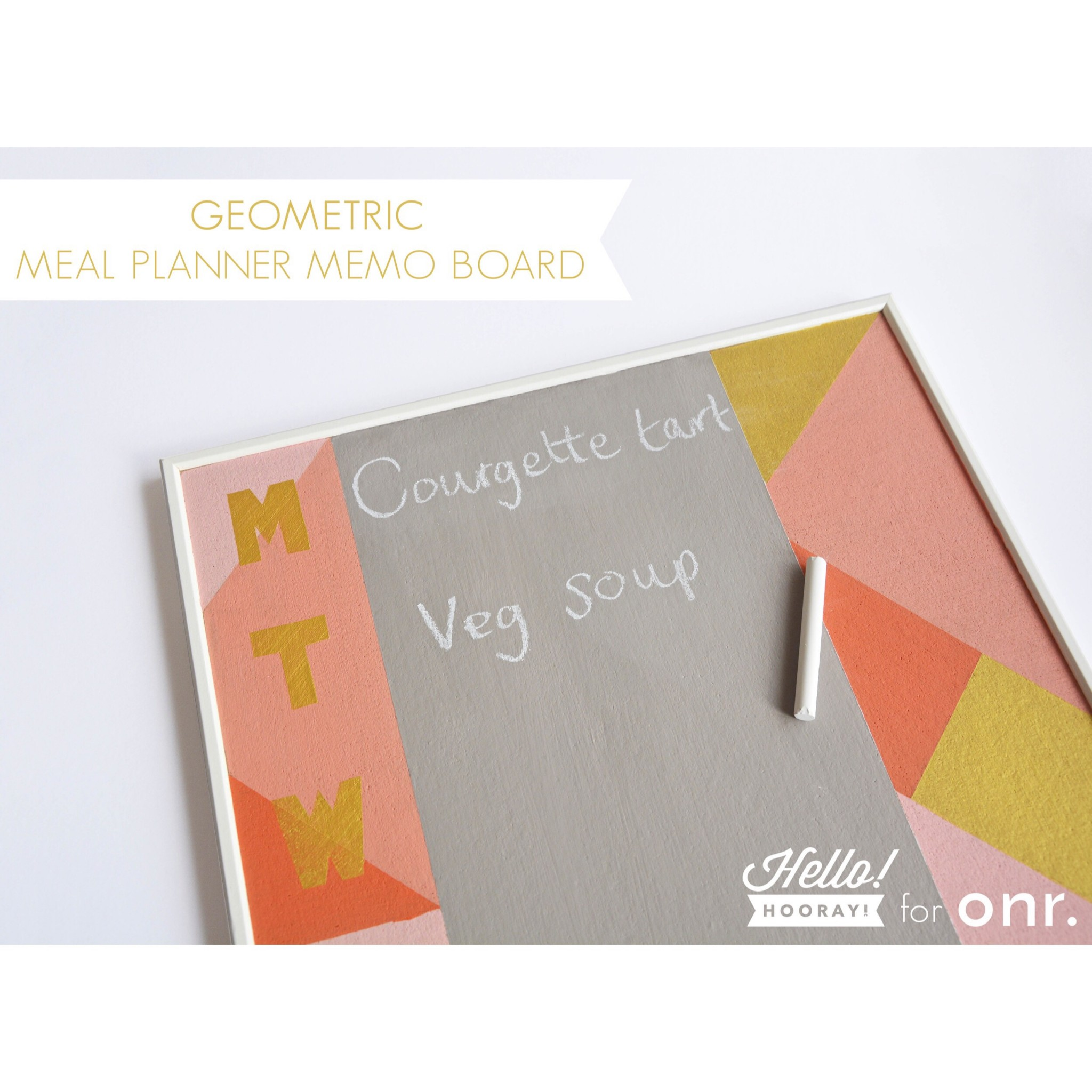 Geometric meal planner DIY | Hello! Hooray! for Oh No Rachio!