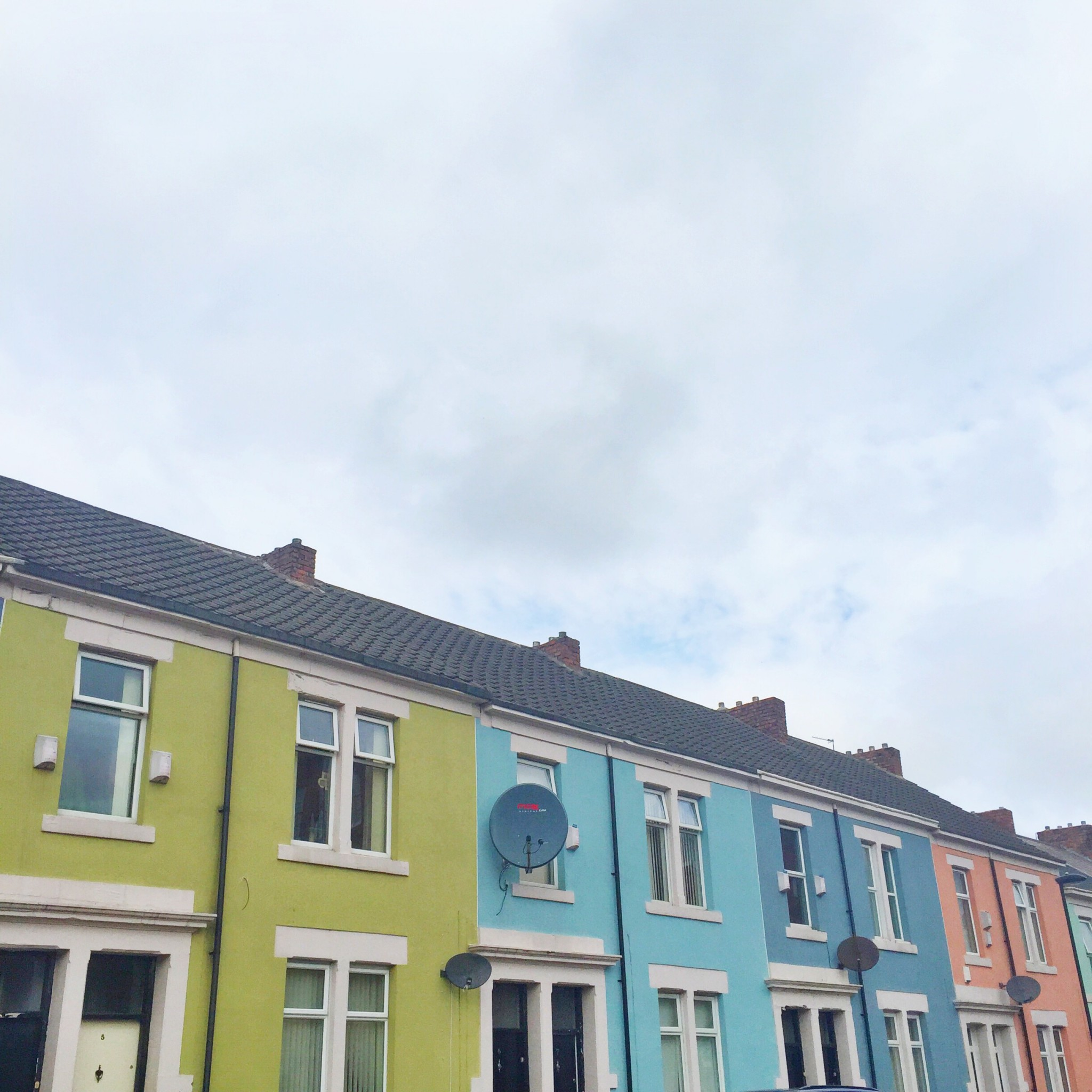 Colourful houses in Newcastle