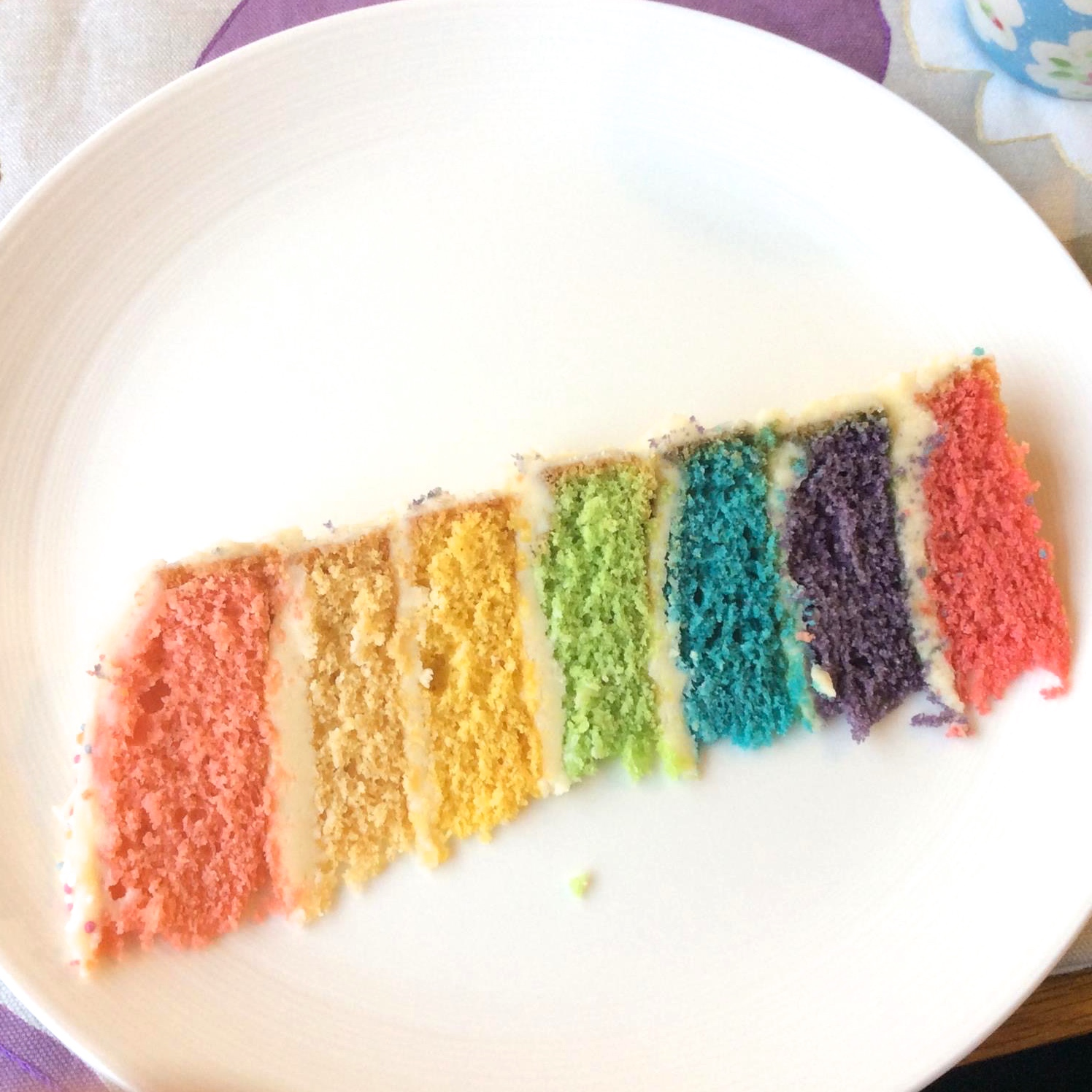 Rainbow cake slice | Hello! Hooray!