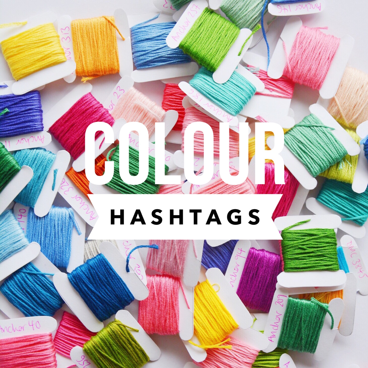 Colour hashtags | Hello! Hooray!