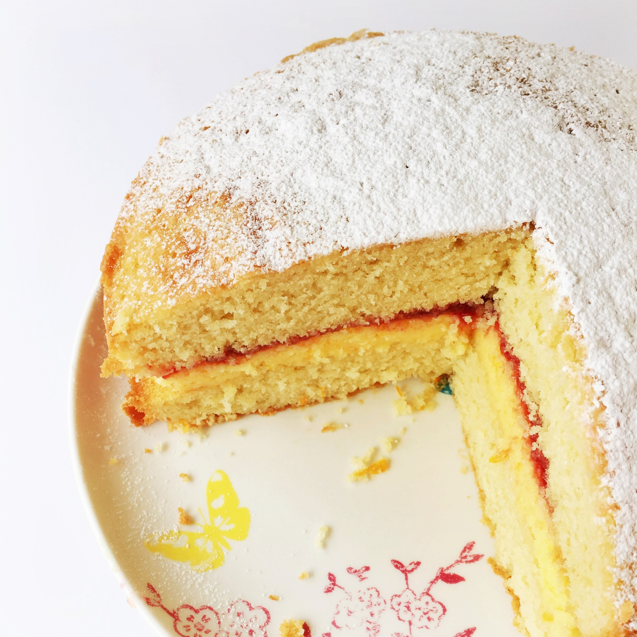 Orange and almond Victoria sponge cake | Hello! Hooray!