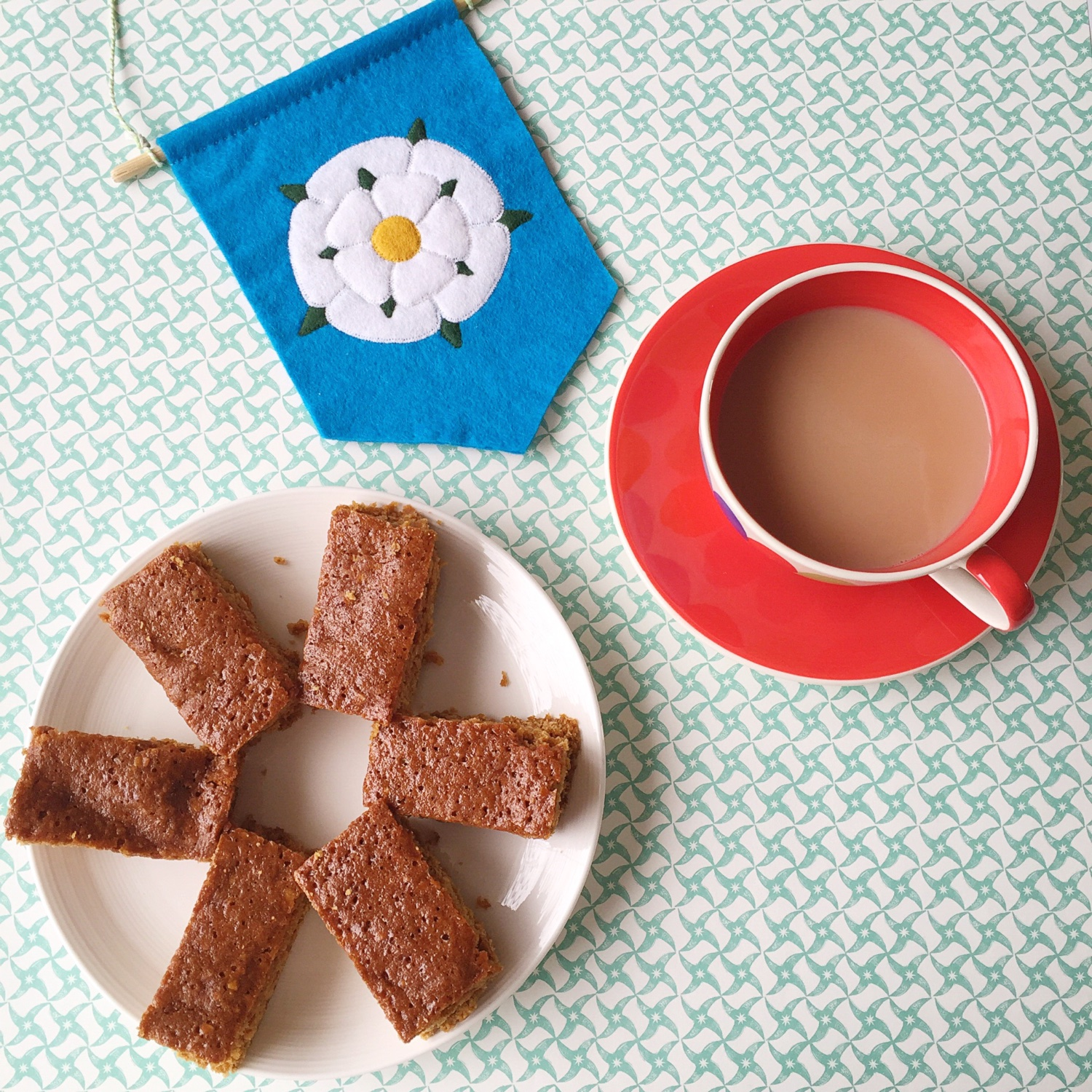 Parkin for Yorkshire Day   Hello! Hooray!