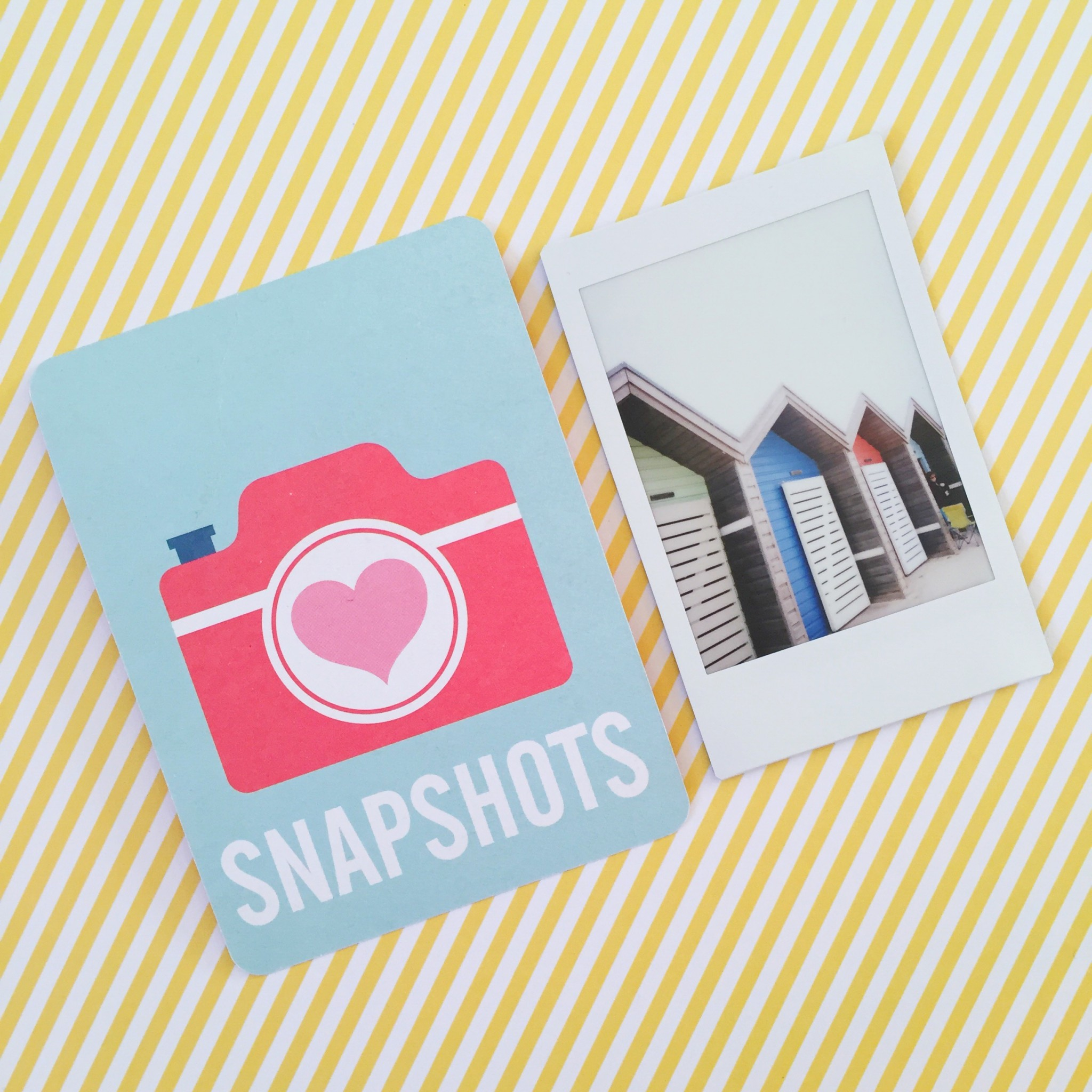 Summer polaroid pictures beach huts | Hello! Hooray!