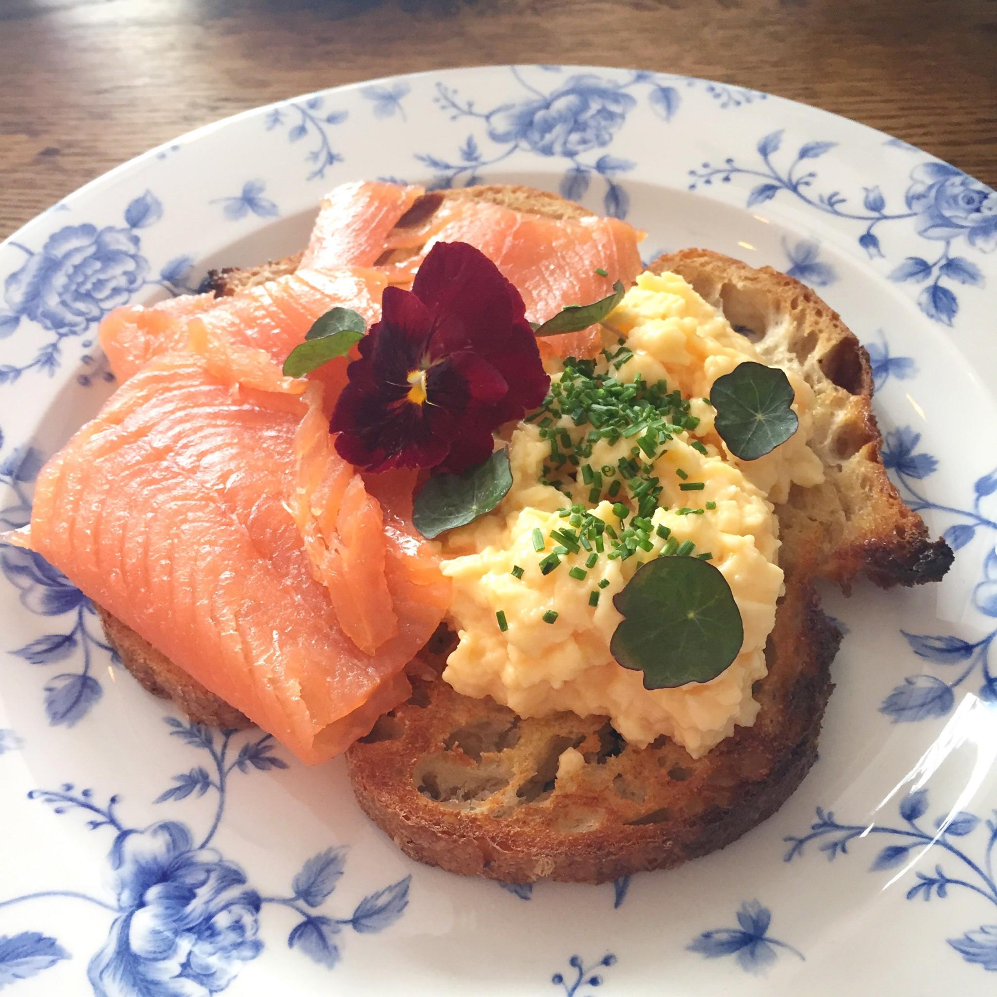Violets breakfast   Hello! Hooray!