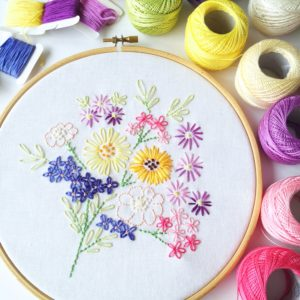 Vintage floral bouquet embroidery | Hello! Hooray!
