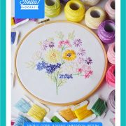 Vintage floral bouquet embroidery pattern | Hello! Hooray!